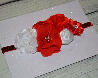 Christmas Baby Headband, Red /Black Headband ,Christmas headband, Newborn Headband ,Baby Headband ,Red White Headband ,Choose Color Headband