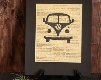 VW Bus Print, Volkswagen, Travel Print