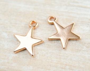2 pcs. charm star rosegold pl.  #4504