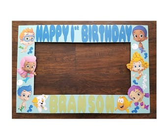 Bubble guppies Photo Booth Frame Prop - Bubble Guppies photobooth prop