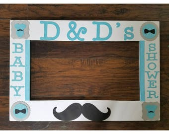 Little Man Photo Booth Frame - Little Mister Photo Frame and Props-theme and colors can be changed