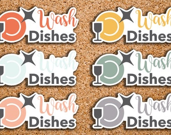 28 Wash Dishes, Kids Daily Chores, Meal Cleanup, Cleaning, Kids Chores Icon Planner Stickers for 2017 inkWELL Press Planners IWP-DC118