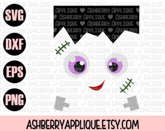 Frankenstein Monster SVG/DXF Cut File - Instant Download - Vector Clipart - Iron On - Cricut - Silhouette - Halloween - Monster Cut File