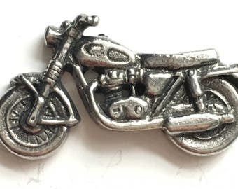 Classic Motorcycle Pewter Lapel Pin Badge