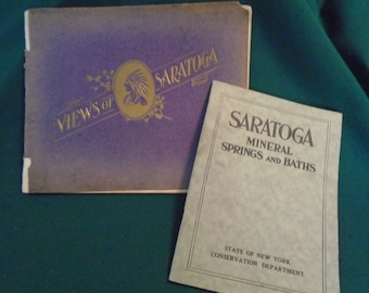 Saratoga Springs, NY Vintage Paper Lot