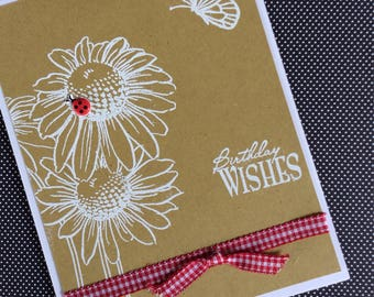 Embossed birthday wishes
