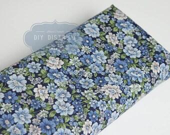 Blue Japanese liberty style fabric