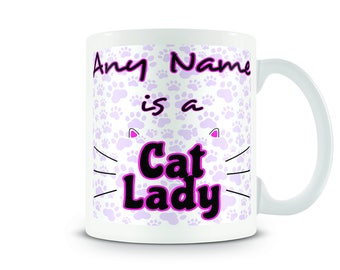 Personalised mug - Cat Lady