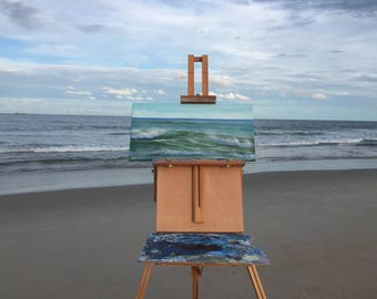 Coastal Decor Beach, Ocean Art, Seascape, Beach Painting, Turquoise Ocean Painting, Original Oil Painting on Canvas
