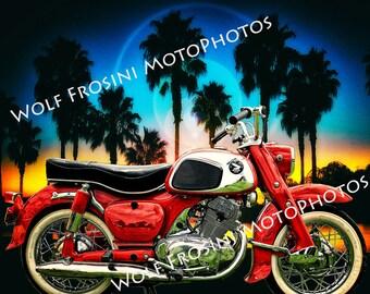 Digital Download 1962 Honda Dream, Gifts for Him, Classic Motorcycles, Motorcycles, Wall Art, Motorcycle prints