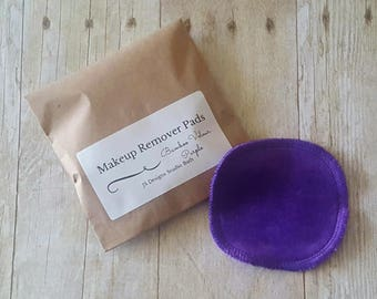 Black Bamboo Velour Makeup Remover Pad- Set of 10 - Face Cloth - Face Scrubbies - Cleansing Pad - Wash Cloth
