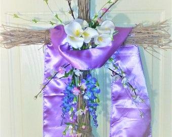 Easter Wreath Cross