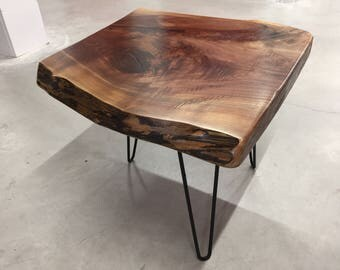 Live Edge End Table English Walnut   Gorgeous Grain
