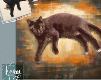 Custom pet portrait Detailed Portraits Personalized pets portrait. Portrait drawing. Custom illustration. Bespoke illustration.