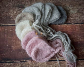 Photography prop newborn bonnet size super fluffy twin bonnet