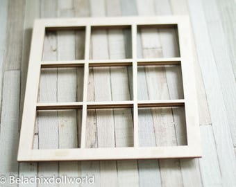 Window 1/6 and 1/4 size dolldiorama, diorama, roombox, miniature construction supply material dollhouse building