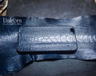 iphone case, iphone 7 Ostrich leg case, case iphone, leather case, ostrich case iphone leather handmade, iphone 6, 6s, 6+, 6s+, 7. 7+