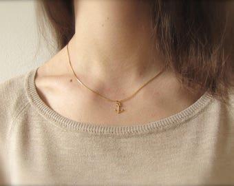 Anchor | Necklace | Gold