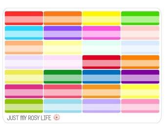 Quarter Box Planner Stickers   Multicolored or Neutral