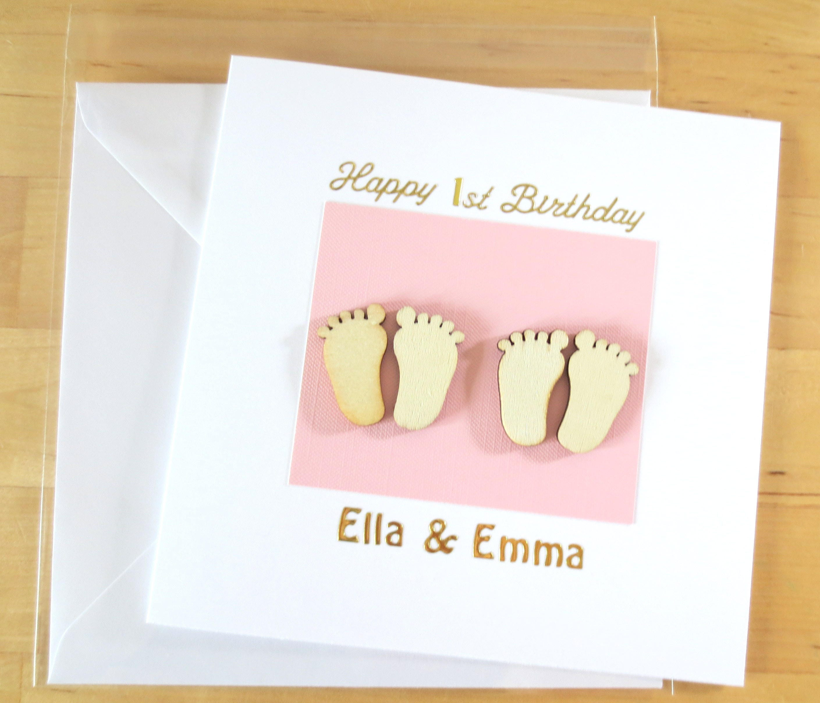 Twin Card Twins Cards Twins First Birthday Twin 1st