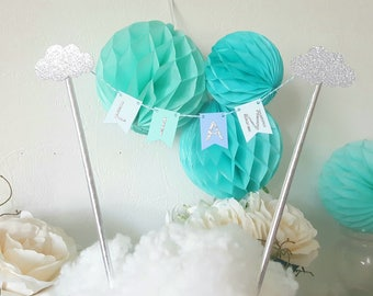 Decoration-Garland-name for cake - cloud theme