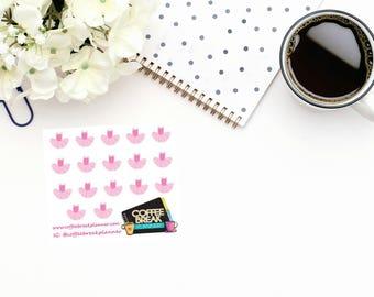 Planner Stickers | Ballerina Dress Stickers| Ballet Stickers|Dance Class Stickers|Pink Ballerina Dress Stickers|Mini Sheet Ballerina Dress
