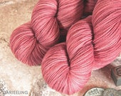 Ming Red on Darjeeling sock yarn base, The Jade Empress Collection, SW Aussie Merino and nylon, 85/15, dto, dye to order, hand dyed, 100gms