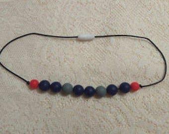 Child necklace - Fidget/ Sensory Necklace-Black/Blue/Grey