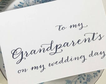 To My Grandparents On My Wedding Day Card, Grandparents Of The Bride Gift, Grandparents of Bride Gift, Grandparents Wedding Gift, Navy