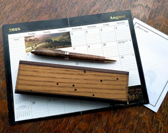 Chestnut and Walnut Pen and Pen Box, Wooden Pen Set, Pen Set, Pen and Box, Gift for men