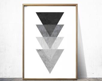 Black and white Prints Geometric Wall Art Geometric Prints