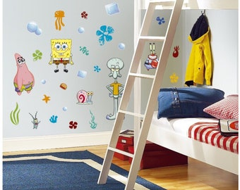 Spongebob squarepants birthday/bedroom stick and peel wall decor
