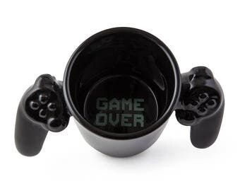 Game over ceramic coffee/tea Mug Cup funny gifts, gifts for her, gifts for him, Christmas gift, unique gifts