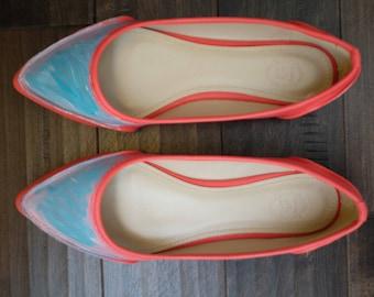 Women's Shoe Ballet Pointed Toe Pastel Low Flat