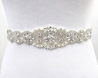 Bridal Sash Belt Wedding Bridesmaid Crystal Rhinestone