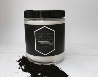 Poetry Reading | Coffee Candle | book candle | poetry candle | literary candle | literary gifts | book gifts | coffee shop candle