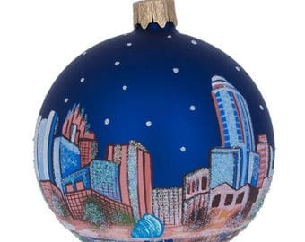 "3.25"" Orlando, Florida Glass Ball Christmas Ornament"