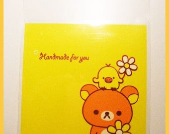 Bags-set of 10 clear plastic wrapping rilakkuma