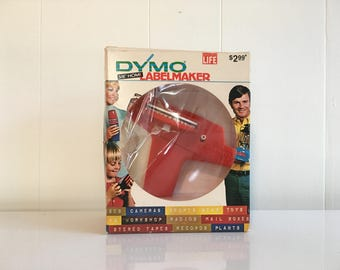 Dymo Labelmaker 1971 Orange Model 1800 No Tapes Included NOS New Original Box 1970s Home Labeling System
