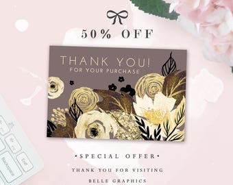 Thank you card - Instant Download - Promotional price - 50% Off!
