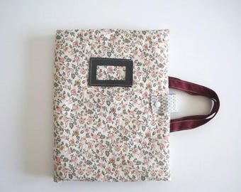 Nomad flowers designs and flamingos cover roses, artist bag