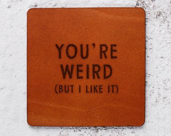 Best friend gifts ideas Birthday Christmas, Weird, Bff gift, Friendship gifts for women, Leather Coasters, Leather for him, Christmas gift