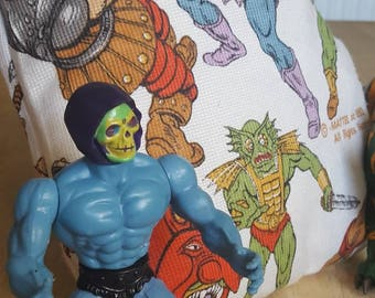 Rare He-man and She-ra cushion made with original fabric