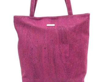 Cork Shopper Bag Purple