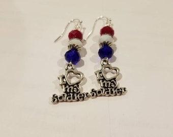 Love my soldier earrings 3