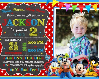 Mickey Mouse Clubhouse Invitation Birthday Mickey Mouse Clubhouse Party Mickey And Friends Invitation