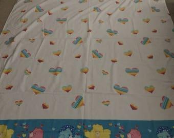 Carebears twin size flat sheet