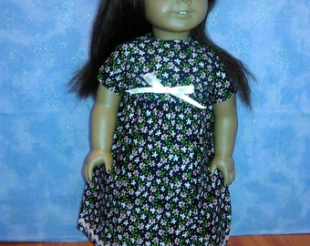 Black summer dress. For American Girl doll