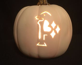 "Pens Pirates Steelers all in one 6.5"" Foam  pumpkin Pittsburgh's favorite teams"