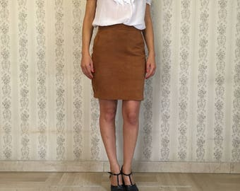 Vintage Suede Skirt from 1980
